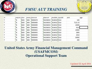 FMSU AUT training