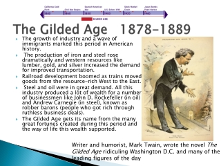 The Gilded Age   1878-1889
