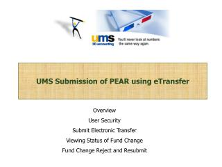 ums submission of pear using etransfer