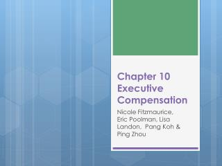 Chapter 10 Executive Compensation