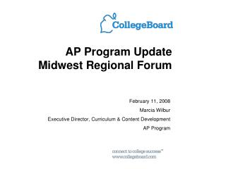 AP Program Update Midwest Regional Forum