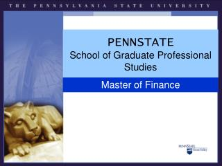 PENNSTATE School of Graduate Professional Studies