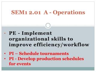 SEM1 2.01  A - Operations