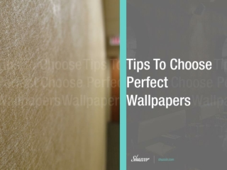 Tips to Choose Modern Wallpaper