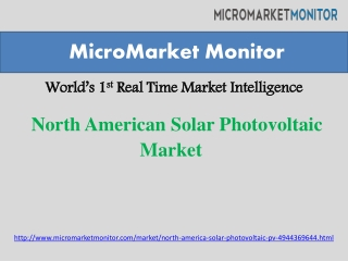 North American Solar Photovoltaic (PV) Market