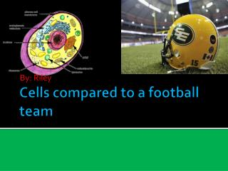 Cells compared to a football team