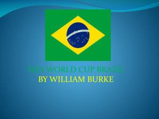 FIFA WORLD CUP BRAZIL  BY WILLIAM BURKE
