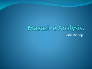 Magazine Analysis.