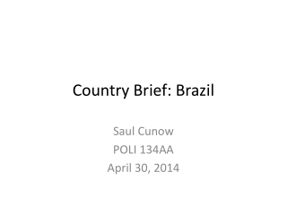 Country Brief: Brazil