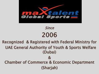 Since 2006 Recognized  & Registered with Federal Ministry for