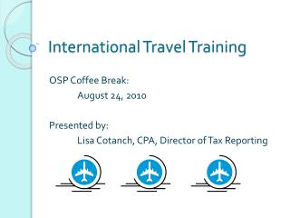 International Travel Training