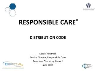 Responsible  CarE ® Distribution Code