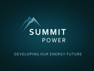 Summit Carbon Capture A business of the Summit Power Group, LLC