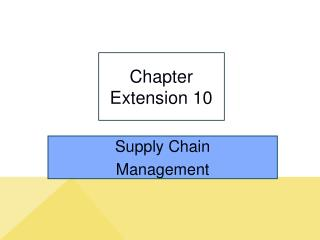 Chapter Extension 10