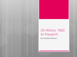 US History 1865 to Present!