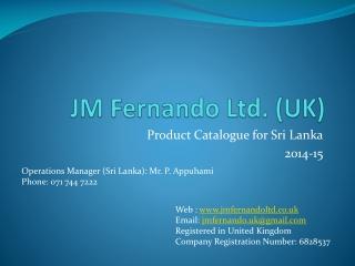 JM Fernando Ltd. (UK)