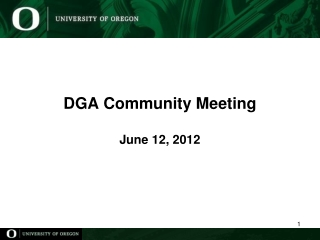 DGA Community Meeting June 12, 2012