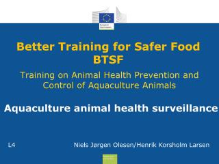 Better Training for Safer Food  BTSF