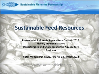 Sustainable Feed Resources