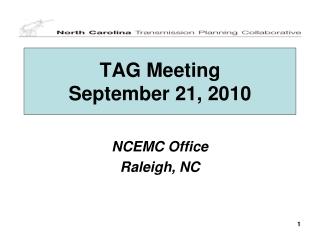 TAG Meeting September 21, 2010