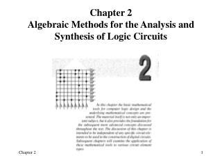 Chapter 2 Algebraic Methods for the Analysis and Synthesis of Logic Circuits