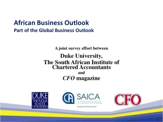 African Business Outlook Part of the Global Business Outlook
