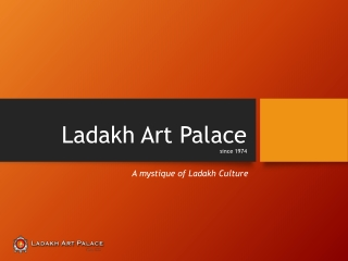 An Indian Art Gallery -Leh Ladakh