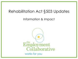 Rehabilitation Act §503 Updates Information & Impact