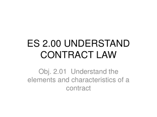 ES  2.00  UNDERSTAND CONTRACT LAW