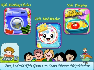 Free Android Kids Games to Learn How Help to Mother