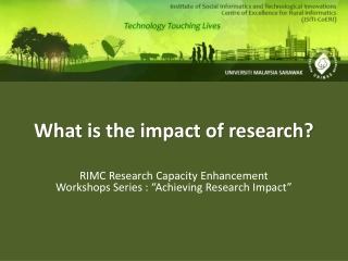 What is the impact of research?