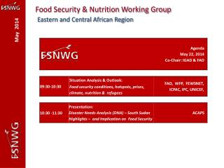 Food Security & Nutrition Working Group Eastern and Central African Region