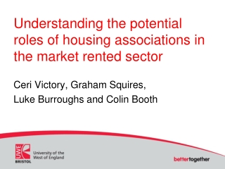 Understanding the potential roles of housing associations in the market rented sector