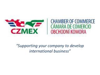 """Supporting your company to develop international business"""