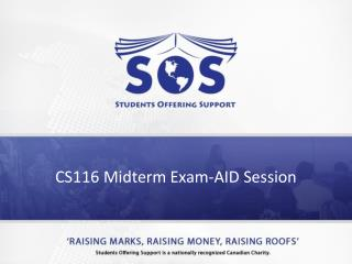 CS116 Midterm Exam-AID  Session