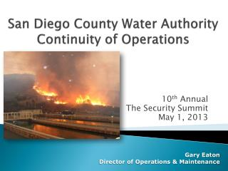 San Diego County Water Authority Continuity of Operations