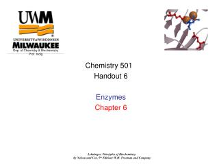 Chemistry 501   Handout 6 Enzymes Chapter 6