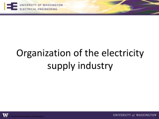 Organization of the electricity supply industry
