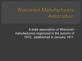Wisconsin Manufacturers Association