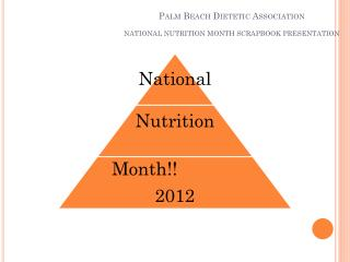 Palm Beach Dietetic Association NATIONAL NUTRITION MONTH SCRAPBOOK PRESENTATION