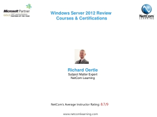 Windows Server 2012 Review  Courses & Certifications