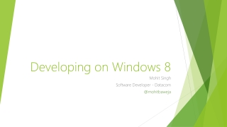 Developing on Windows 8