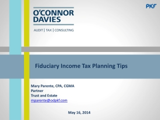 Fiduciary Income Tax Planning Tips