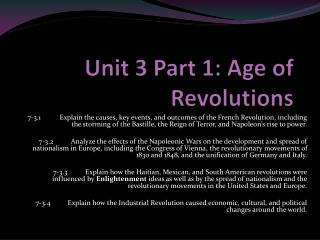 Unit 3 Part 1: Age of Revolutions