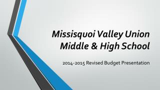 Missisquoi Valley Union Middle & High School