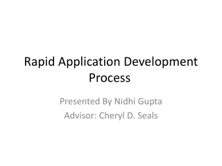 Rapid Application Development Process