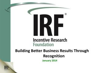 Building Better Business Results Through Recognition