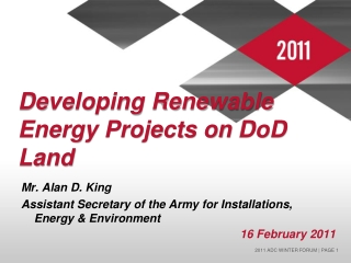 Developing Renewable Energy Projects on  DoD  Land
