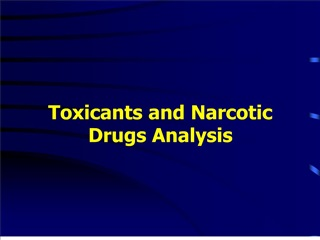 toxicants and narcotic drugs analysis