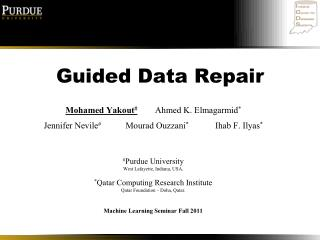 Guided Data Repair